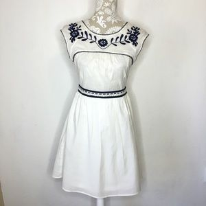 NWOT Altar'd State white cotton A line dress Small